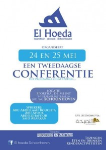 Conferentie zondag 24 en maandag 25 Mei