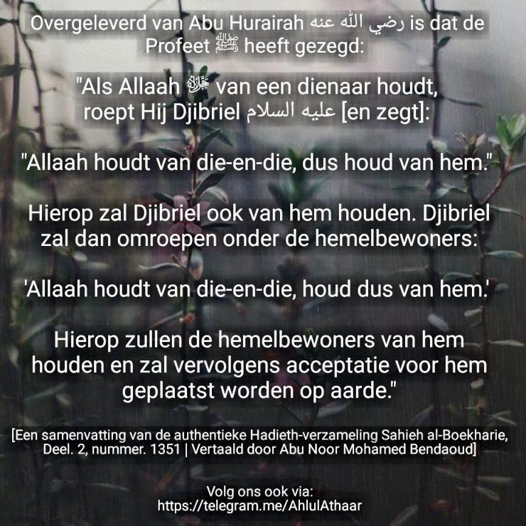 als Allah van een dienaar houdt