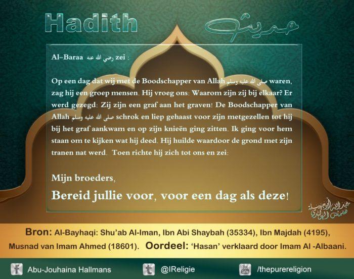 hadith overlevering van de profeet Mohammed